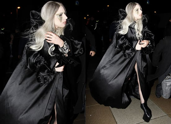 Photos of Lady Gaga in Gothic Style Leaving Berlin After a Gig