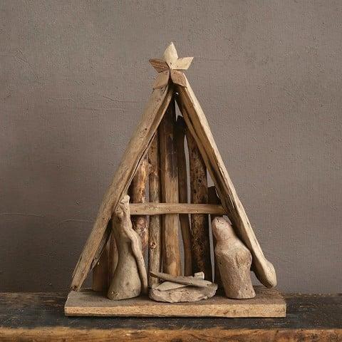 Driftwood Nativity Scene