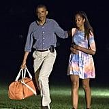 Wearing a breezy tie-dye three-quarter-sleeved dress.