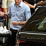 Prince George was incorrectly buckled into his car seat as they left the hospital in 2013.
