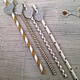 Silver & Gold Party Straws