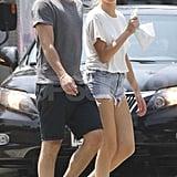 Josh Hartnett and Sophia Lie wore cutoff shorts.