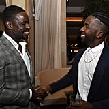 Pictured: Sterling K. Brown and Jean Elie