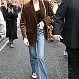 Kaia Gerber's Street Style at London Fashion Week