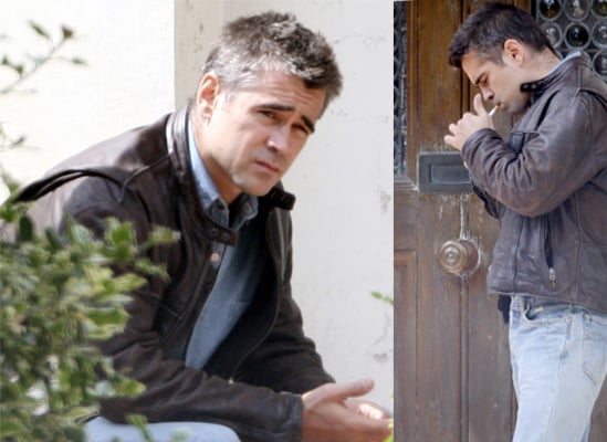 Photos Of Colin Farrell On Set Of New Movie London Boulevard In London, UK
