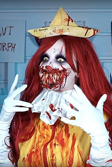 Scary Ronald McDonald Clown Makeup Video