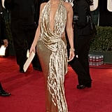 Jennifer Lopez Wearing Marchesa to the 2009 Annual Golden Globe Awards