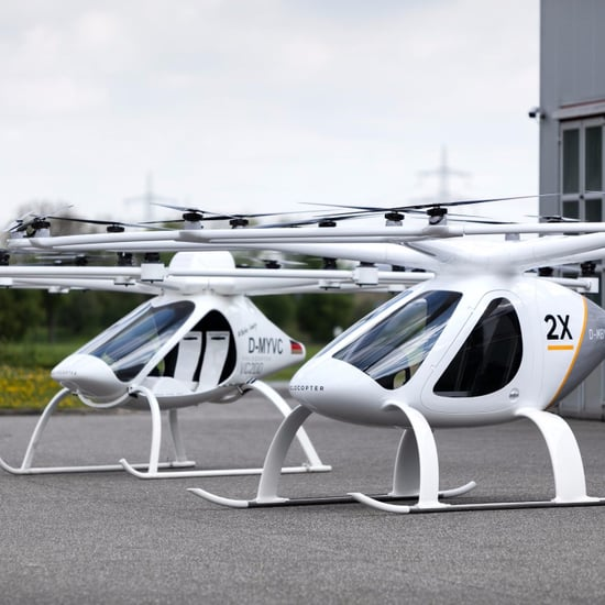 Dubai Flying Taxi Tests in Desert