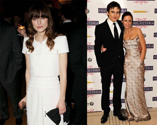 Photos of Keira Knightley, Rupert Friend, Emily Blunt at the Young Victoria Premiere in London
