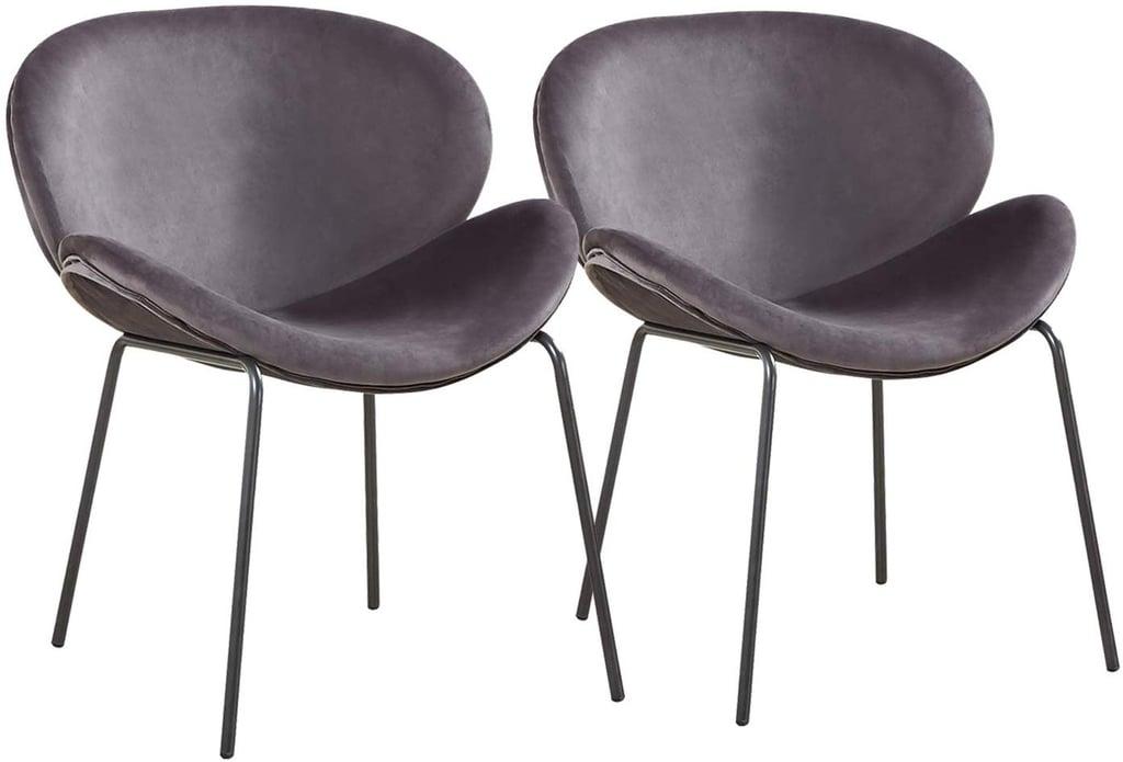 GreenForest Velvet Accent Chairs