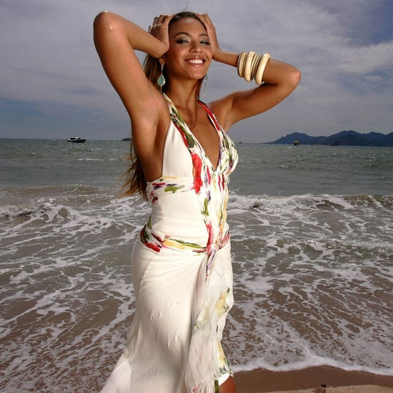 Beyoncé Knowles posed on the beach before showing off Dreamgirls in 2006.