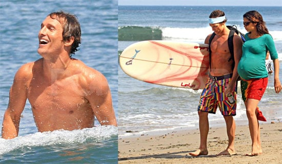 Photos of Shirtless Matthew McConaughey and Camila Alves at Malibu Beach