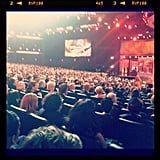 The Nokia Theatre filled up with Hollywood's hottest television stars. Source: Instagram user celebstyle