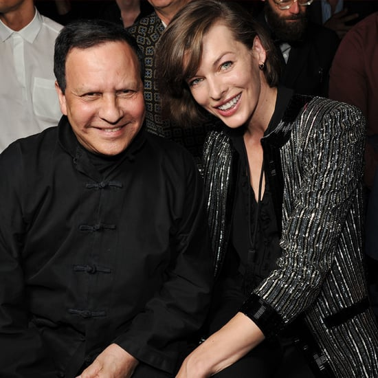 Azzedine Alaïa took a seat with Milla Jovovich at Saint Laurent.  Source: Saint Laurent