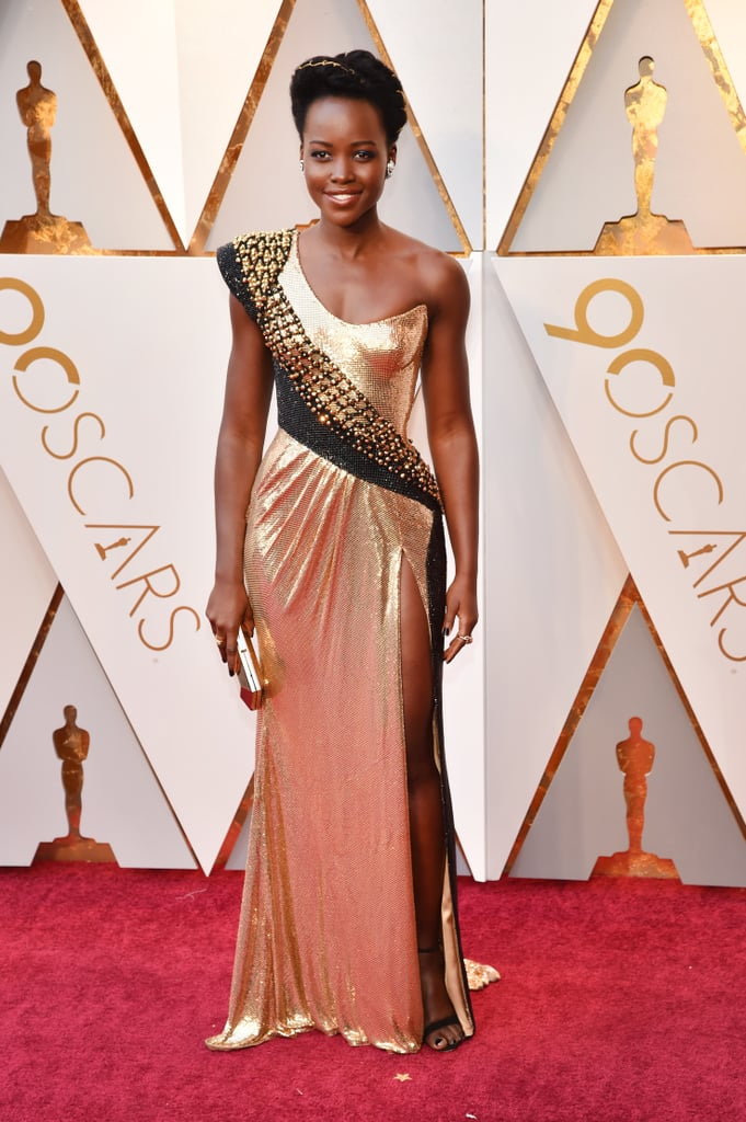 Lupita Nyong'o Versace Dress at the Oscars 2018