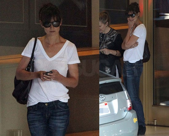 Pictures of Katie Holmes in a T-Shirt and Jeans in LA