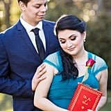 Beauty and the Beast-Themed Engagement Shoot