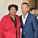 Stacey Abrams and John Legend