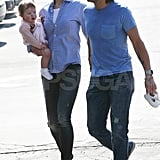 Nicole Kidman carried her baby Faith in LA while out with Keith Urban.