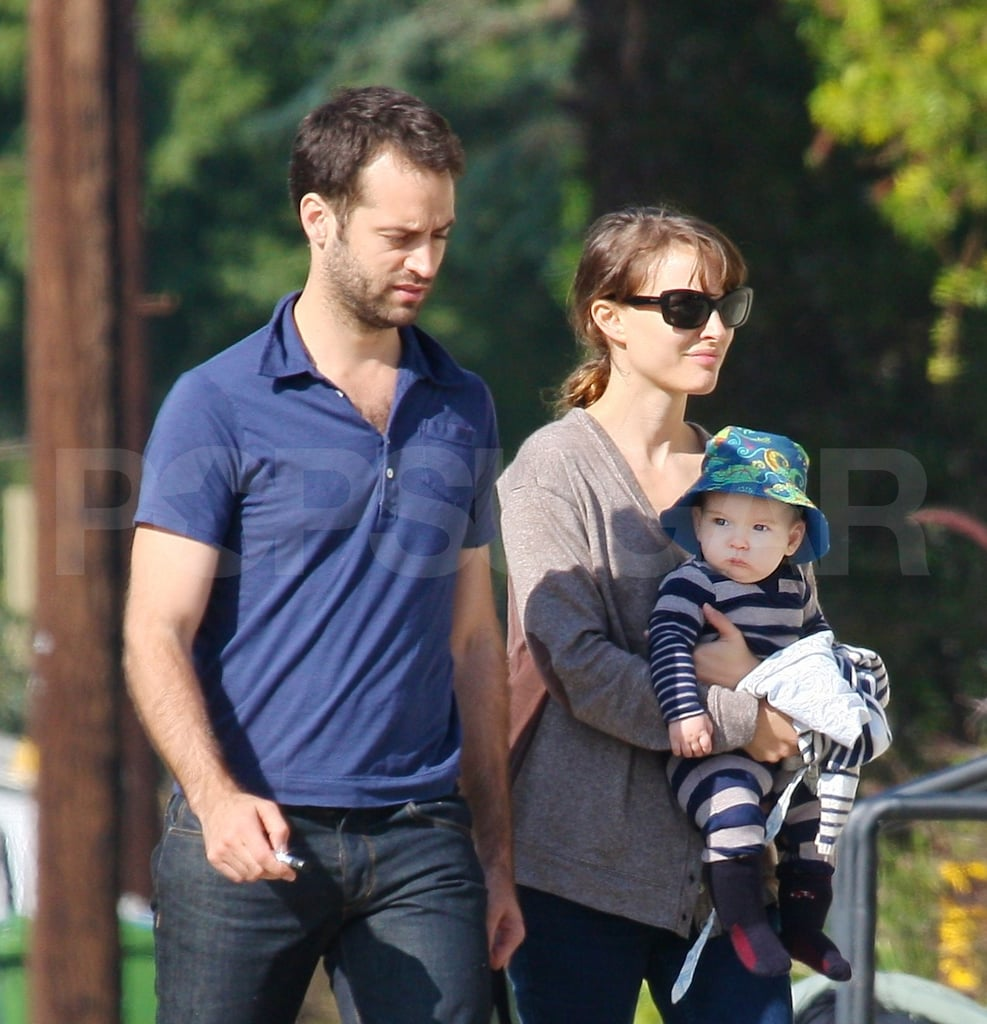 Natalie Portman and Benjamin Millepied took their son out to lunch in Venice Beach yesterday. The trio then went off to run errands together, with little Aleph looking too cute in his bucket hat. Natalie, Benjamin, and Aleph are hanging out in LA after a period of globe-trotting. They were in NYC, then went to France and Switzerland for Benjamin's work and to see the Millepied clan. Lately, Natalie's parents have been spending time with their grandson and accompanied her, Benjamin, and Aleph for a day of fun in the sun over the weekend.