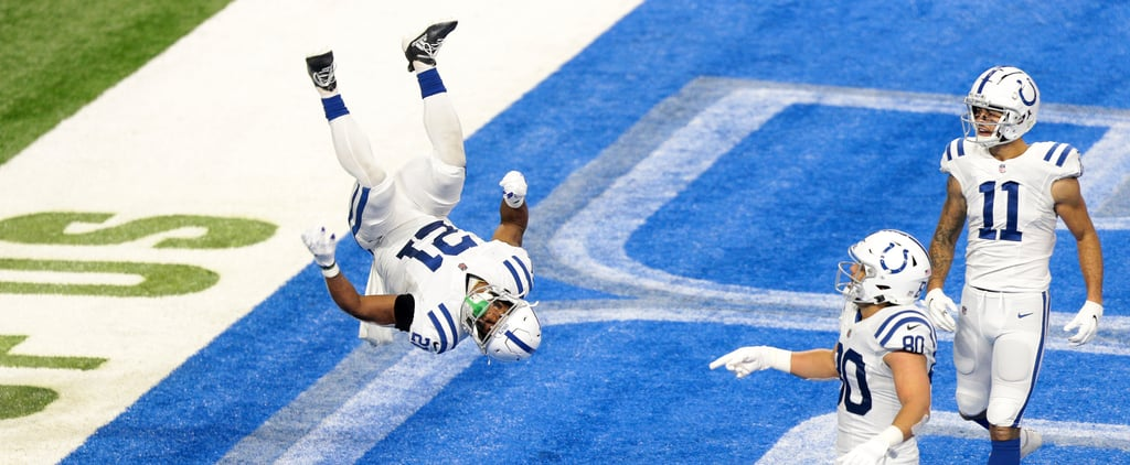 Nyheim Hines From Colts Celebrates Touchdown With Flip
