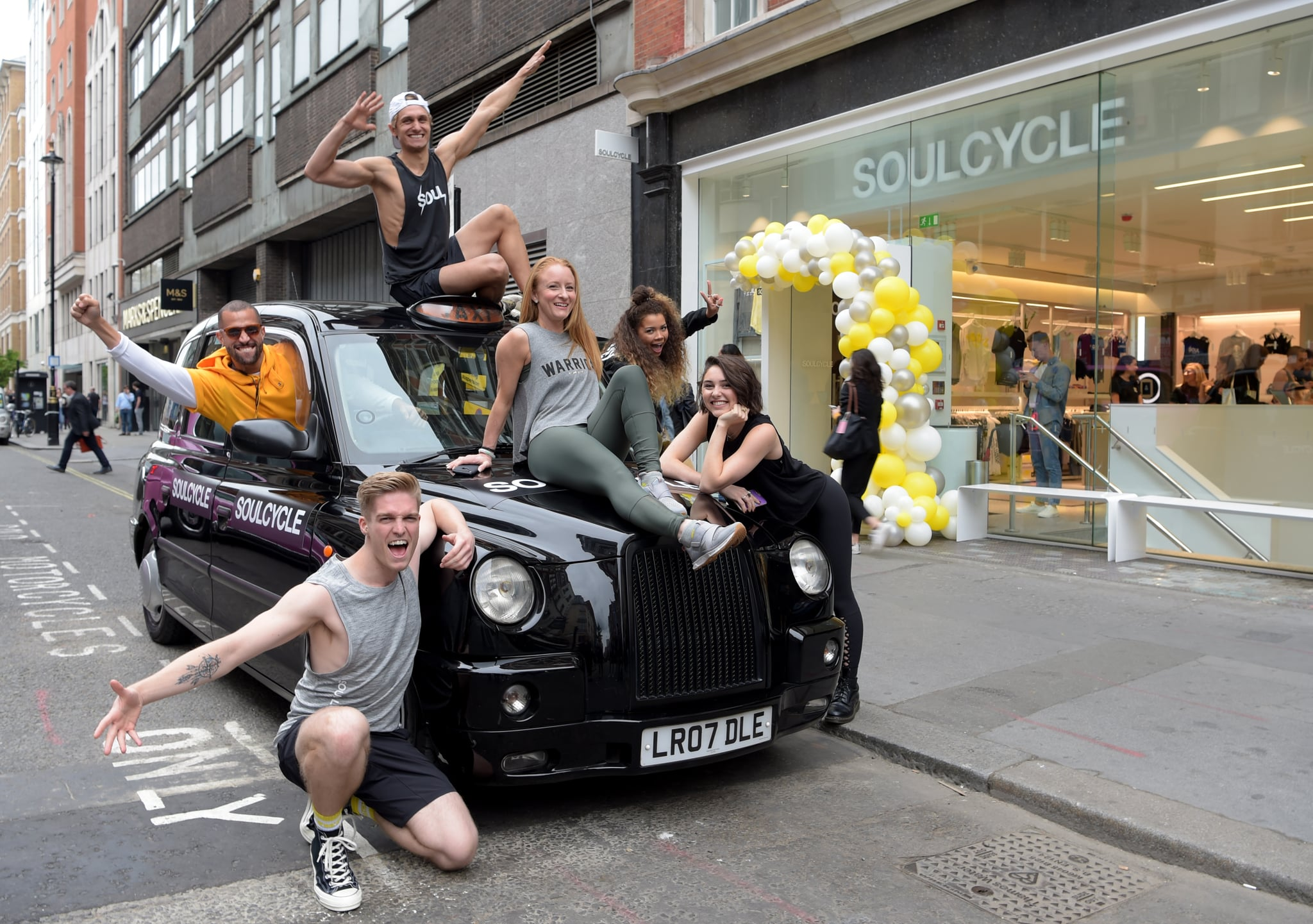 LONDON, ENGLAND - JUNE 05: The SoulCycle instructors at the UK launch of luxury lifestyle brand, SoulCycle ahead of its first official London opening on 14th June on June 05, 2019 in London, England. (Photo by David M. Benett/Dave Benett/Getty Images for SoulCycle London )