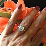 Etsy Emerald Cut Moissanite Ring