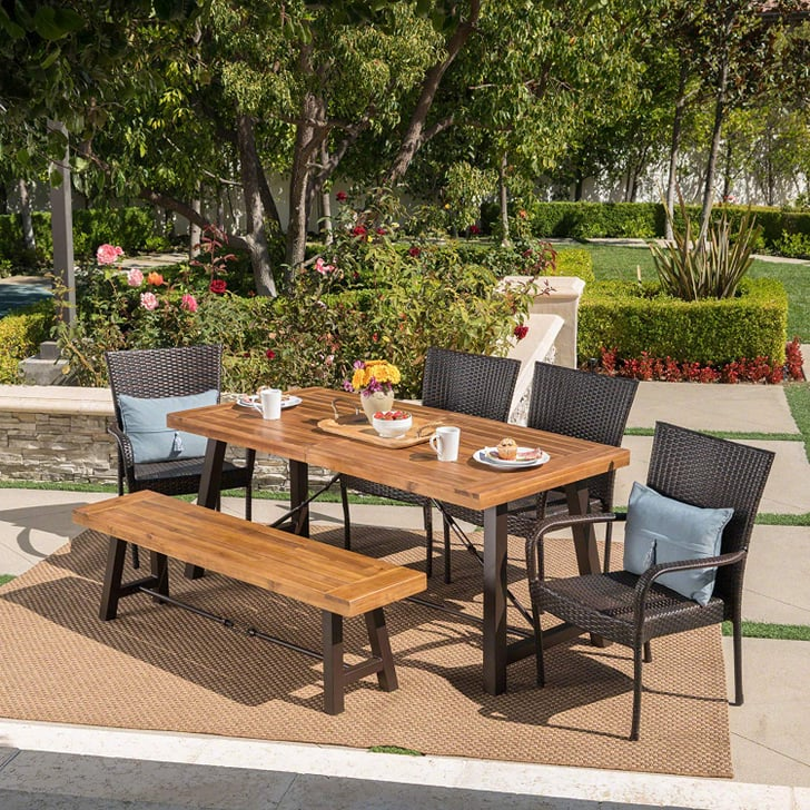 Christopher Knight Home Salla Outdoor Acacia Wood Dining ...