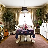 """In addition to all the fun decorating, the holidays are also the perfect time entertain. """"I love to have a dedicated time to spend quality time with friends and family,"""" she said. A festive dinner party is just the thing!"""