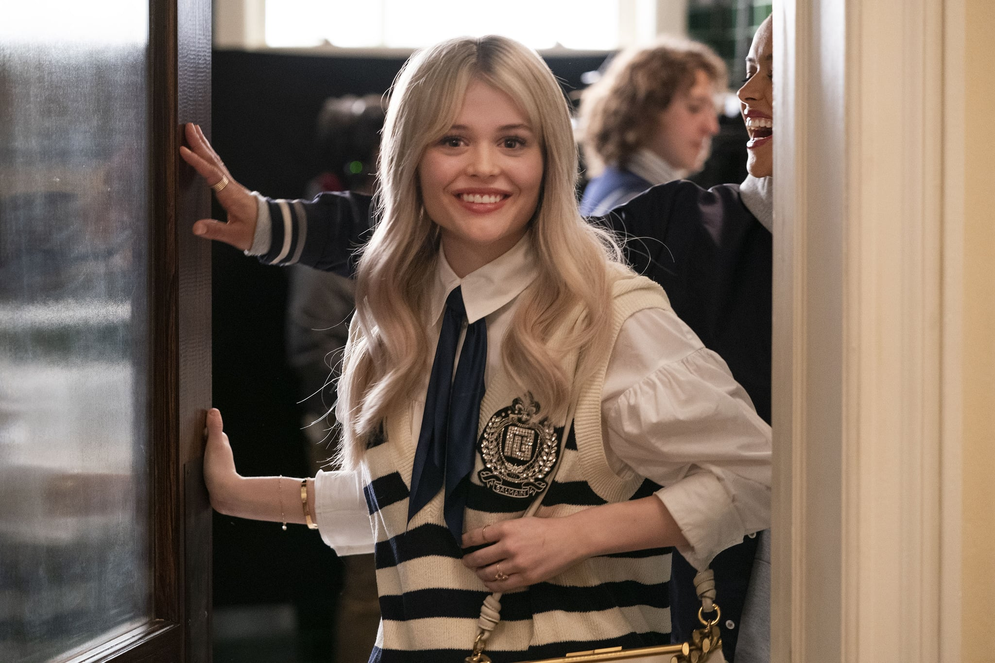 Programme Name: Gossip Girl (2021) - TX: n/a - Episode: Gossip Girl S7 - Ep3 Lies Wide Shut (No. 3) - Picture Shows:  Audrey (EMILY ALYN LIND) - (C) Warner Bros. Entertainment Inc.   - Photographer: Production