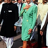 Princess Diana at the Badshahi Mosque in Pakistan