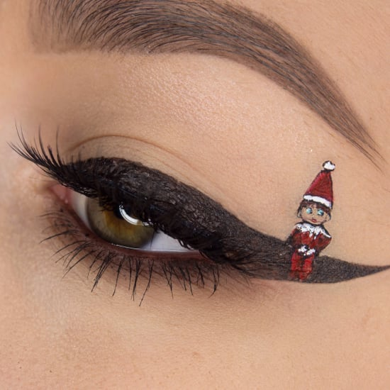 Elf on a Shelf Eyeliner Art