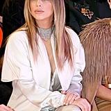 In January 2014, Kim Kardashian took in a show at Paris Fashion Week.