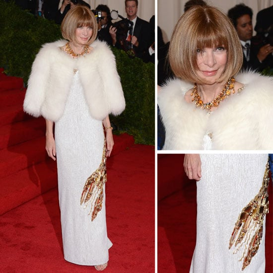 Pictures of Anna Wintour In Prada Lobster Dress at the 2012 Met Costume Institue Gala Red Carpet ...