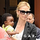 Charlize Theron visited Madrid with Jackson.