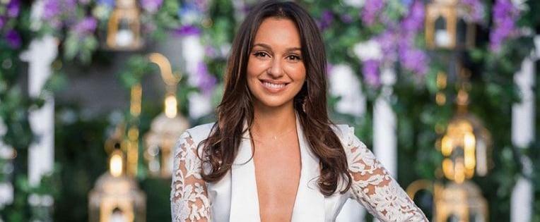 Where to Shop Bella Varelis White Lace Suit The Bachelor