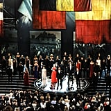 The cast of Les Misérables performed at the 2013 Oscars.
