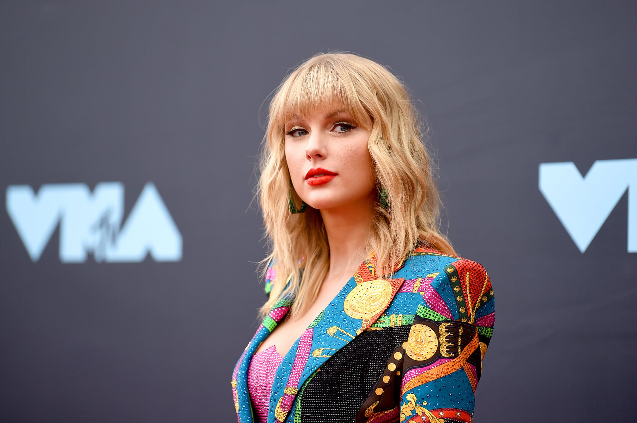 NEWARK, NEW JERSEY - AUGUST 26: Taylor Swift attends the 2019 MTV Video Music Awards at Prudential Centre on August 26, 2019 in Newark, New Jersey. (Photo by Jamie McCarthy/Getty Images for MTV)