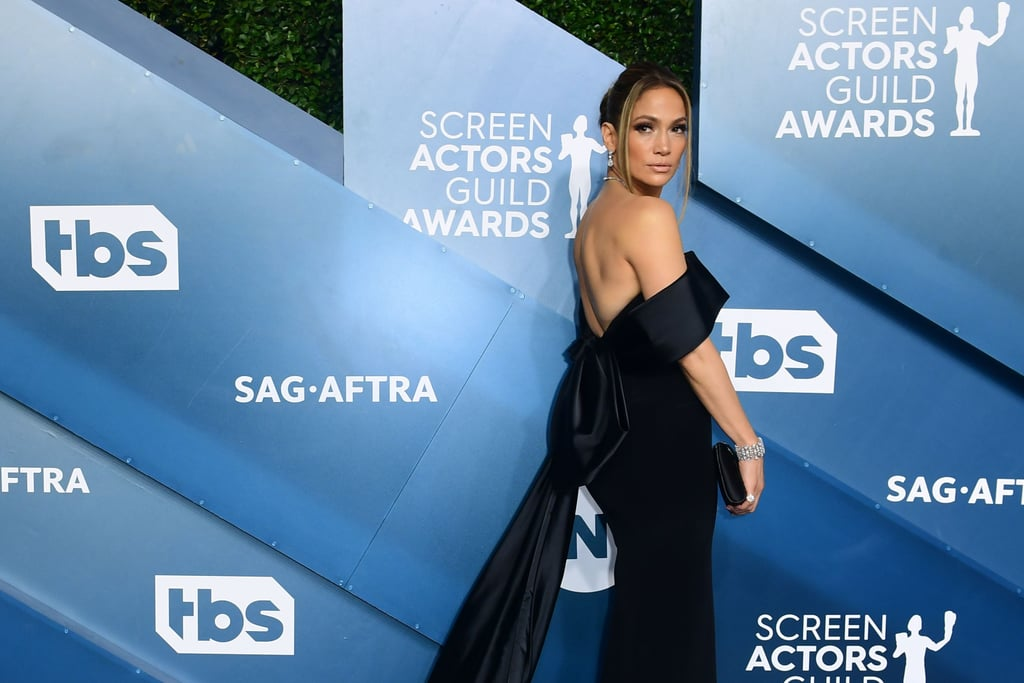 Jennifer Lopez Wore a Black Dress to the SAG Awards 2020