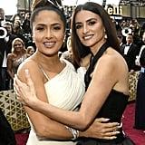 Salma Hayek and Penélope Cruz at the 2020 Oscars