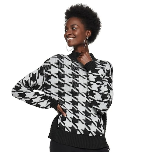 Nine West Petite Houndstooth Sweater