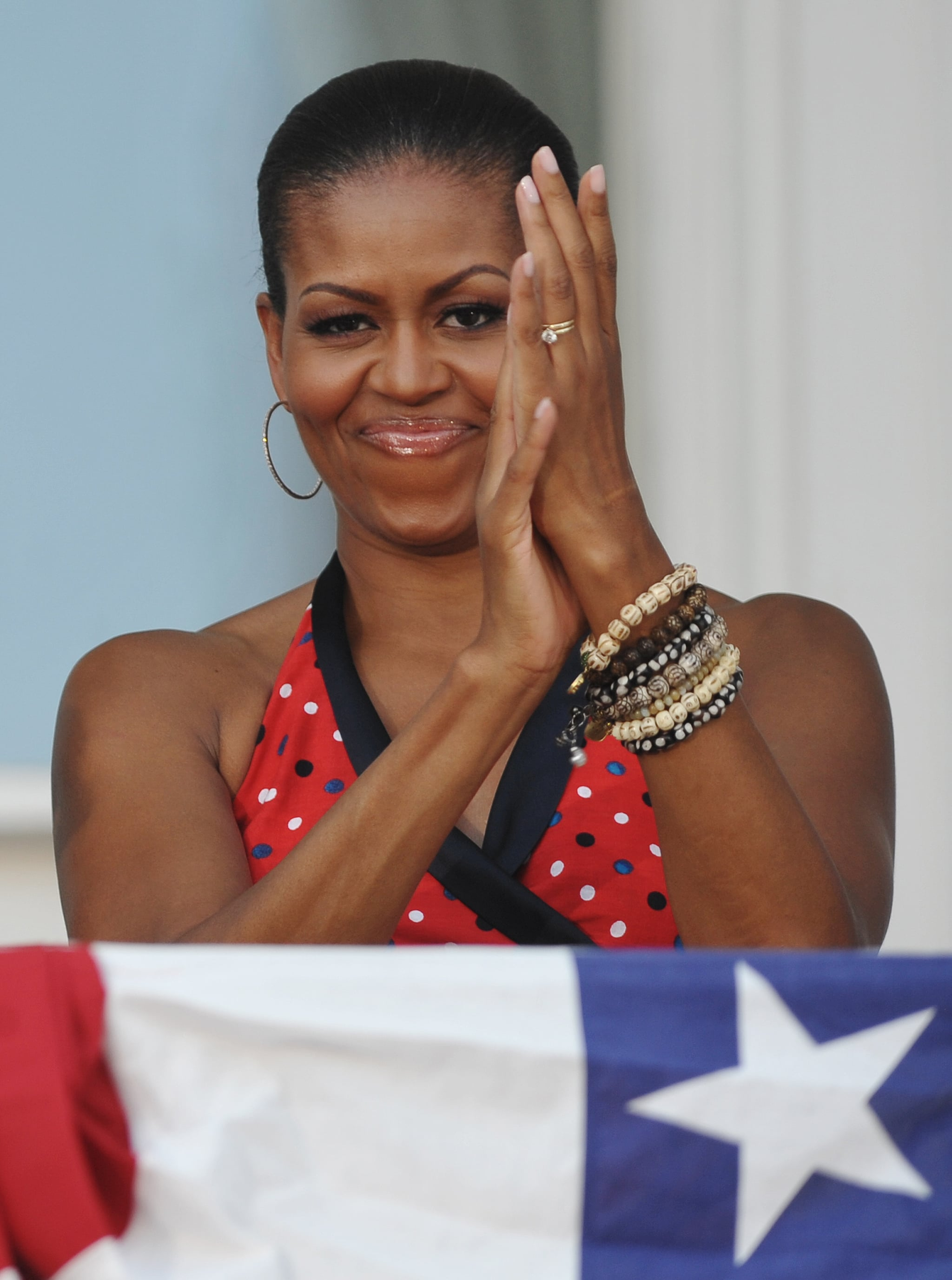 Michelle wore her red, white, and blue best for a 2010 celebration at the White House.