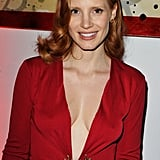 Jessica Chastain at a vitaminwater party for Killer Joe.
