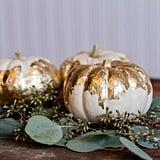 DIY Gold Leaf Pumpkins