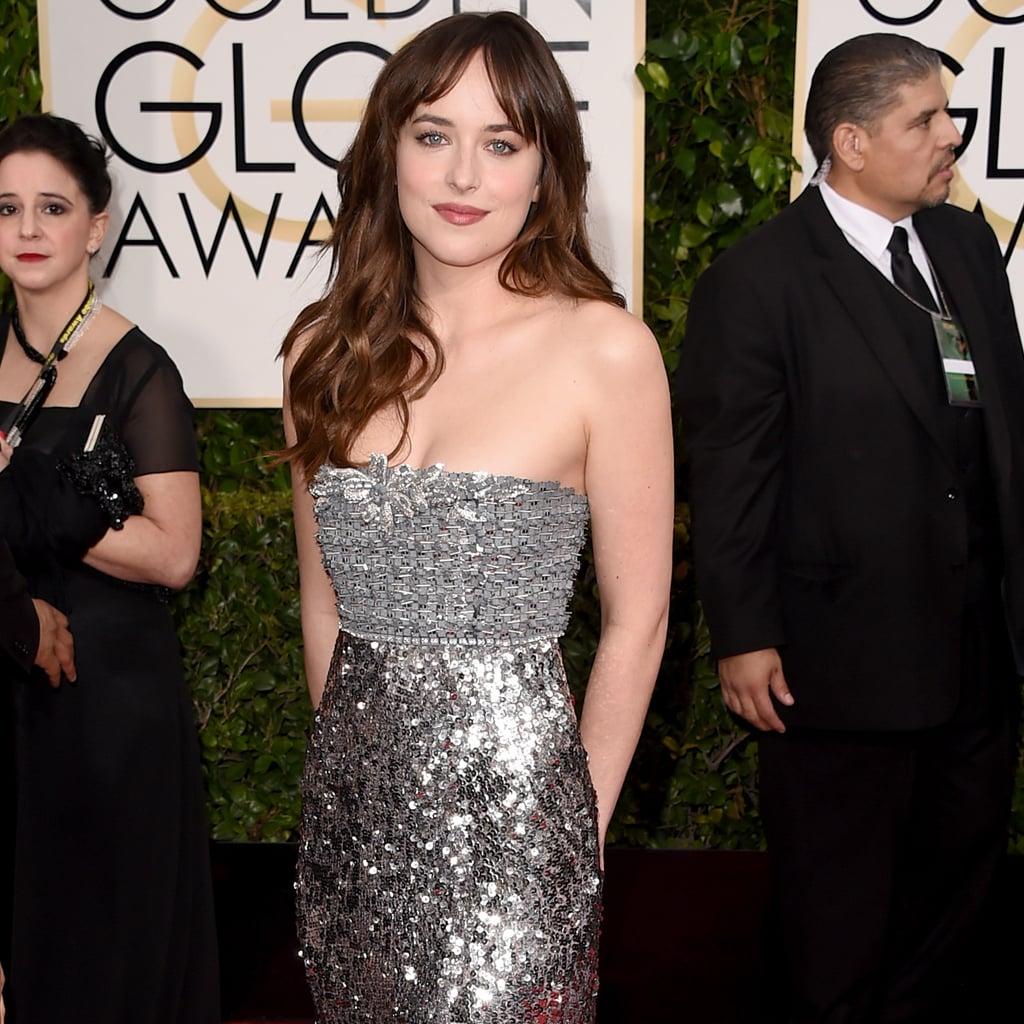 Dakota Johnson at the Golden Globes 2015