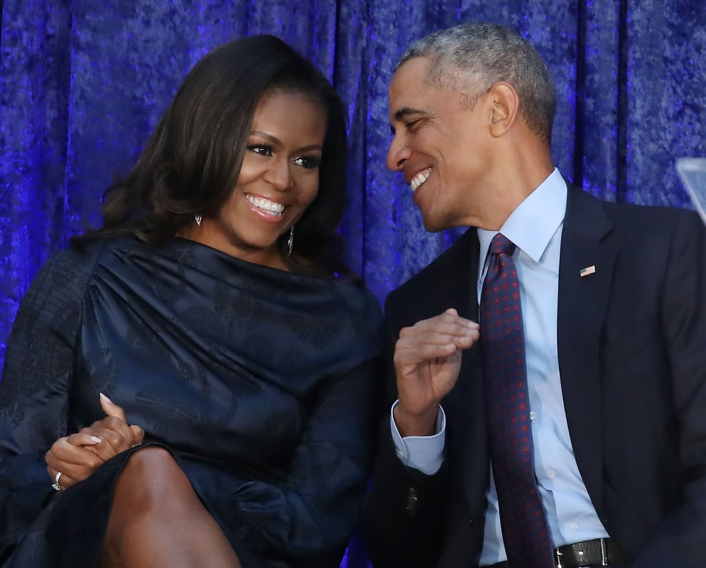 "It's been 26 years since Barack and Michelle Obama tied the knot, and the former president took to social media on Wednesday to share a sweet message for his other half. He posted a picture of Michelle looking out the window of an aeroplane, and in the caption, he wrote, ""Happy Anniversary, @MichelleObama. For 26 years, you've been an extraordinary partner, someone who can always make me laugh, and my favourite person to see the world with.""  Of course, the Obamas bringing their A game to Instagram for thoughtful tributes is nothing new. Back in May, Michelle posted a picture of Barack for his birthday, saying, ""The view is always better with you."" And who could forget her adorable wedding-day throwback? Keep reading to see some of the Obamas' sweet messages for each other, then find out why Obama recently broke his no-selfie rule.       Related:                                                                                                           Everything You Need to Know About Michelle Obama's Upcoming Book Tour"