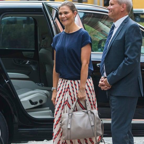 Princess Victoria Striped Midi Skirt by Malene Birger