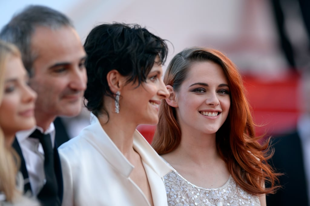 Kristen Stewart let her smile out at the premiere of Clouds Of Sils Maria.