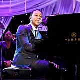John Legend performed at Clive Davis's gala.