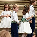 Princess Charlotte Trips at Princess Eugenie's Wedding